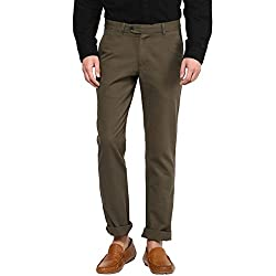 Byford by Pantaloons Men's Trousers 205000005549712_Olive_38