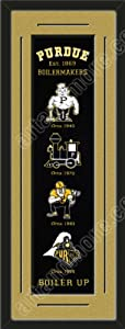Heritage Banner Of Purdue Boilermakers With Team Color Double Matting-Framed Awesome... by Art and More, Davenport, IA