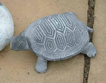 Ornamental Weather are proud to present the Verdigris Grey Finish Cast Iron Tortoise Garden Ornament