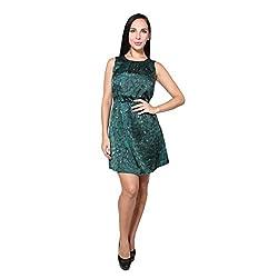 CJ15 Satin printed mini dress for women