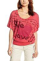 Desigual Camiseta Manga Corta T25 Rep (Rojo)