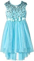 Speechless Little Girls' Sequin Hi-Low Dress