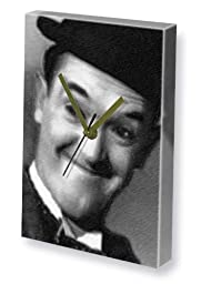 STAN LAUREL - Canvas Clock (LARGE A3 - Signed by the Artist) #js001