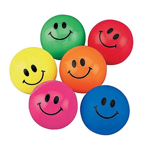 Fun Express Smile Face Bouncing Balls (48 Count)