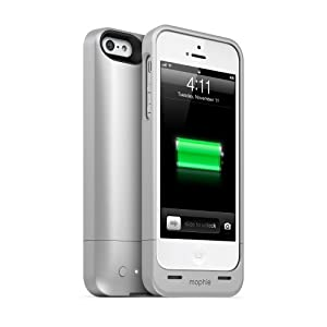 Mophie Juice Pack Helium for iPhone 5 & 5S - Retail Packaging - Silver