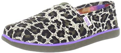 Skechers Kids 85041L Bobs World Lil Wild Slip On,Leopard,10.5 M US Little Kid