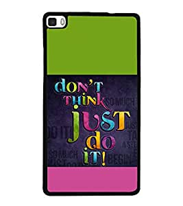 printtech Cool Quotes Back Case Cover for Huawei P8