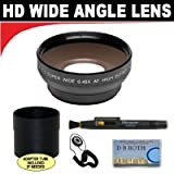 0.5x Digital Wide Angle Macro Professional Series Lens + Lens Adapter Tube (If Needed) + Lenspen + Lens Cap Keeper + ClearMax Micro Fiber Cloth For The Canon Powershot A510, A520, A530, A540, A550, A560 Digital Cameras