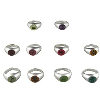 Naruto Cosplay full Naruto Akatsuki rings set