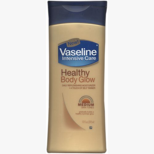 Vaseline Intensive Care Healthy Body Glow Daily Replenishing Moisturizer, Medium Skin Tone - 10 OZ