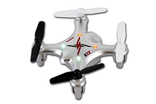 Syma X12 Nano 6-Axis Gyro 4CH RC Quadcopter (SILVER)