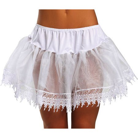 Fairy Tale Costume White Petticoat Adult One Size