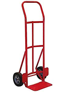 Milwaukee Hand Trucks 40291 Flow Back Handle Truck with 8-Inch Puncture Proof Tires