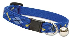 """Lupine 1/2"""" Dapper Dog Adjustable Breakaway Collar with Bell for Cats with 8-to-12-Inch Necks"""