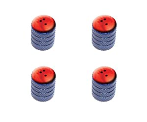 Bowling Ball Sporting Goods Sportsball Tire Rim Wheel Aluminum Valve Stem Caps – Blue Color