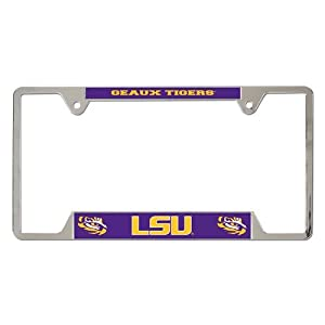 Buy LSU Tigers Official NCAA 12x6 Metal License Plate Frame by WinCraft