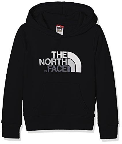 North Face Y Drew Peak Plv Hd Felpa con Cappuccio, Nero/Tnfblack/Tnfwht, L