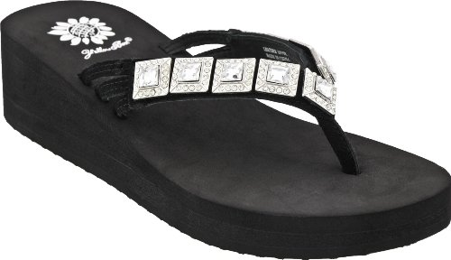Yellow Box Women's Black Clear Macy 8 B(M) US Picture