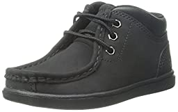 Timberland Groveton Leather Chukka Boot (Toddler/Little Kid/Big Kid), Black, 10 M US Toddler