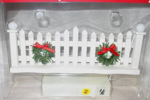 Led Pickett Fence Christmas Village Lighted Accessory