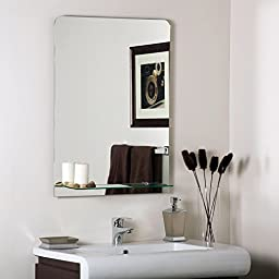 Decor Wonderland Columbus Frameless Wall Mirror - 23.6W x 31.5H in.