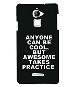 Attitude Quote 3D Hard Polycarbonate Designer Back Case Cover for Coolpad Note 3 Lite :: Coolpad Note 3 Lite Dual SIM