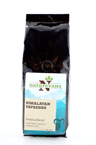 Himalayan Espresso Whole Coffee Bean (Medium Roast - 200g Bag), Rich Aroma and Strong Flavor, Rich Espresso Crema, Single Origin Arabica Blend, Natural and Organic Growth, Quality Packaging (Espresso Machine Vienna Plus compare prices)