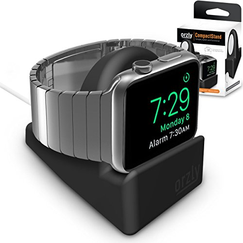 Orzly Night-Stand - Soporte de Apple Watch para ocultar el cable de carga, color negro