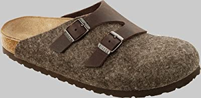 Birkenstock Clogs ''Graz'' from Leather/Wool in Habana/Cacao with a regular insole