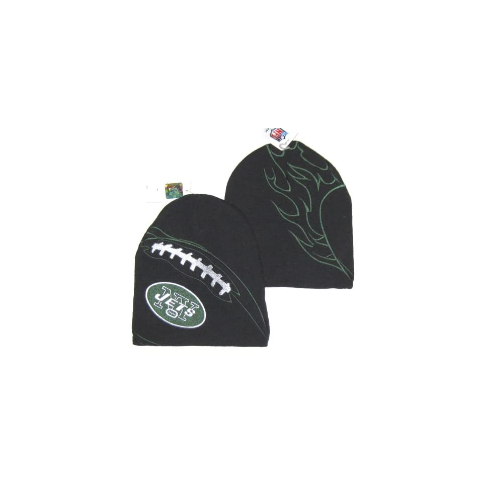 New York Jets NFL Team Apparel Embroidered Logo Knit Football Beanie Hat
