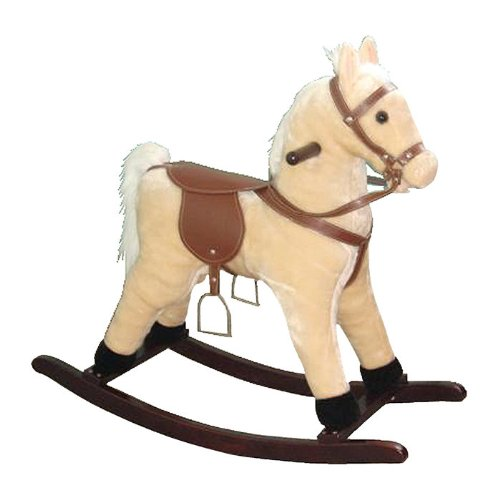 Small Plush Rocking Horse with Sound Effects