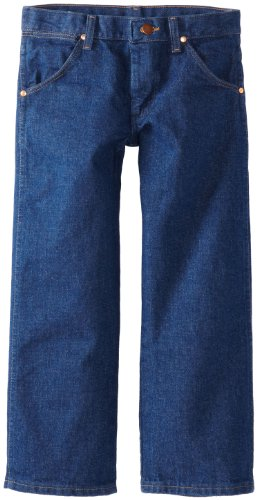 Wrangler Big Boys' Original ProRodeo Jean, Prewashed Indigo Denim, 14 Slim