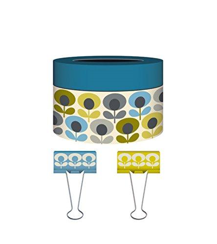Orla Kiely 12 Count Multi-Flower Boxed Designer Binder Clips