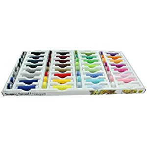 64 Piece 100% Polyester Sewing Thread Set by TheWorks