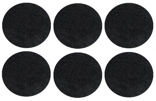 "Set 6 Children'S Crazy Carpet Circle Seats - Burn Rubber Black 18"" Round Rug Mats front-1072153"
