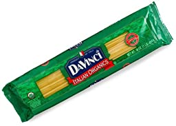 DaVinci Pasta Organic, Linguine, 16 Ounce Bags (Pack of 20)