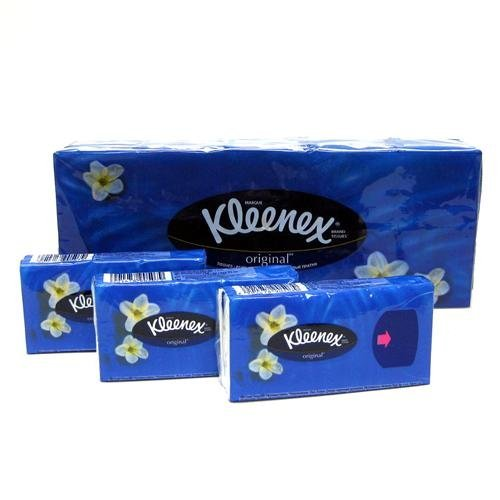 Kleenex Tissue Pocket 10 Pack, 10 3-ply Tissues Per Pack (Box of 4) Total of 400 Tissues