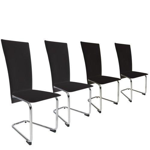 miadomodo EZSTL03-2cream 4pc Cantilever Dining Room Chairs Set (Colour Choice) (Cream)