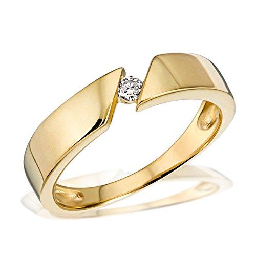 Goldmaid Anello da Donna Oro giallo Brillante Diamante - Misura 59 (18.8)