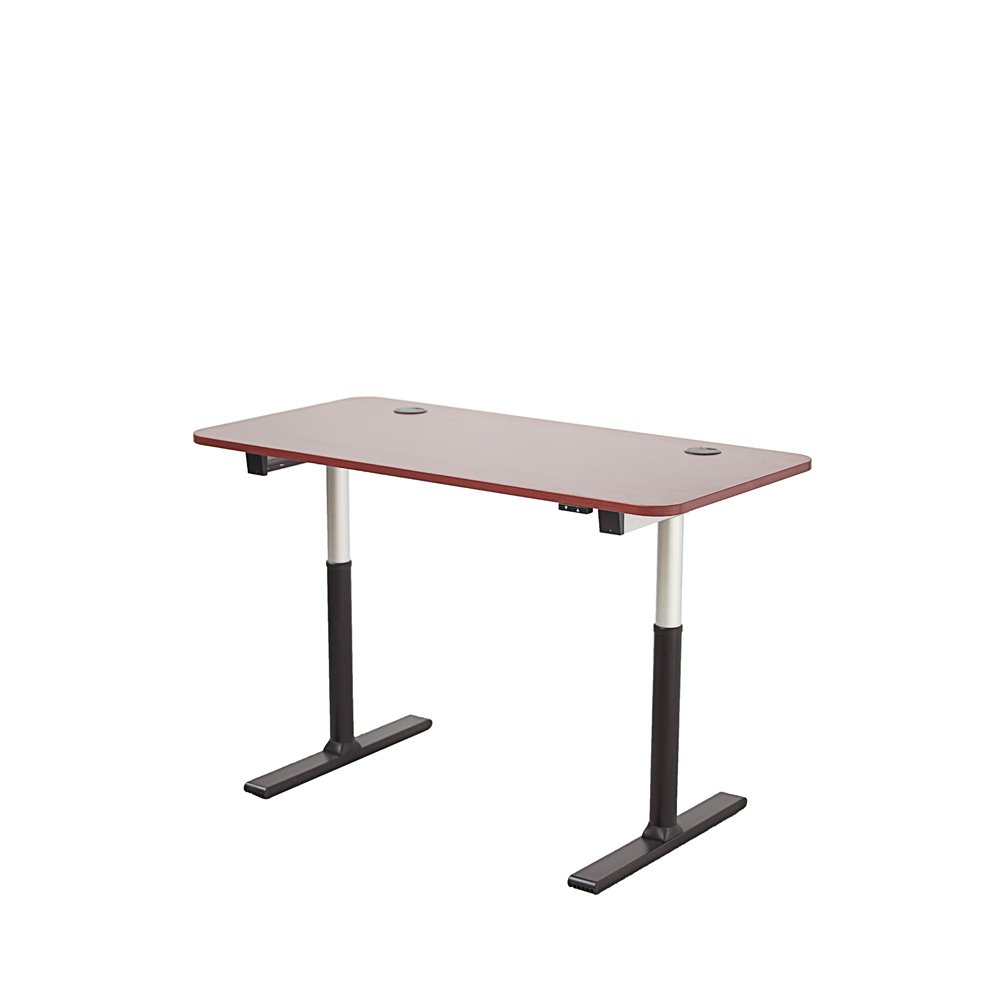 "ApexDesk VT60NWC-S Vortex Series 60"" Wide 2-Button Electric Height Adjustable Sit to Stand Desk, New Cherry"
