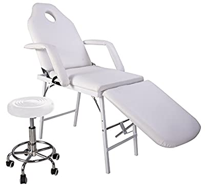 Merax Professional Multi-function Adjusting Salon Chair Massage Table Facial Bed with Adjustable Stool