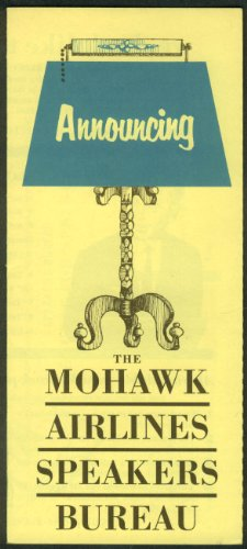 Mohawk Airlines Speakers Bureau Airline Folder 1960S3