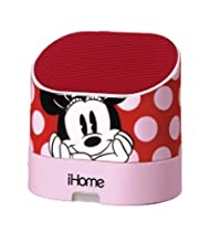 Minnie Mouse Portable Rechargeable Speaker with Carrying Case for MP3 Players/iPhone/iPad, DM-M63