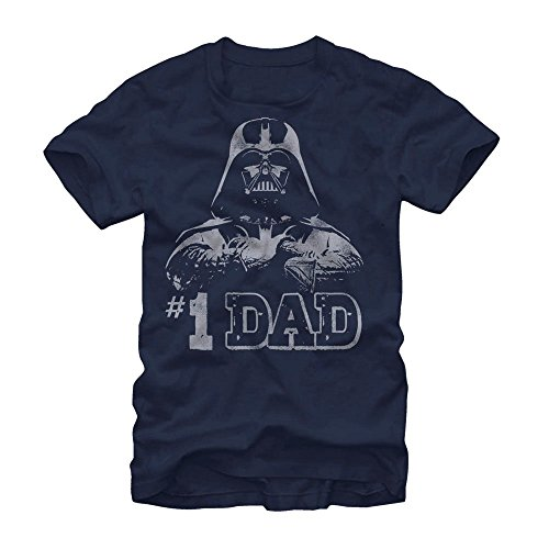 Star Wars #1 Dad Darth Vader Father's Day T-Shirt - Navy (Large)