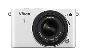 Nikon ミラーレス一眼 Nikon 1 J3 標準ズームレンズキット1 NIKKOR VR 10-30mm f/3.5-5.6付属 ホワイト N1J3HLKWH