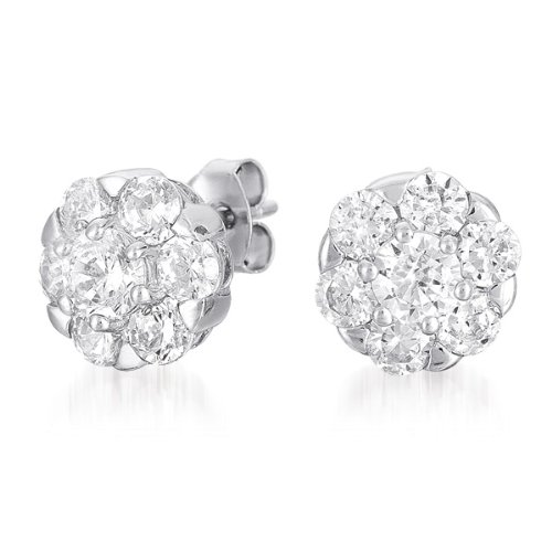 ClassicDiamondHouse CZ FLOWER STUD - Incl. ClassicDiamondHouse Free Gift Box & Cleaning Cloth