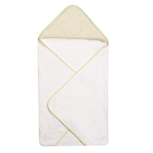 Trend Lab Gingham Seersucker Hooded Towel, Yellow
