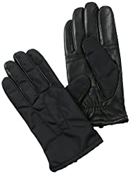 Phenix Cashmere Men's Oxford Glove with Touch Technology Palm, Black, X-Large