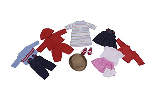 Childcraft Doll Clothes for 13 inch Dolls - Set of 14 - Fabrics and Colors May Vary - Dolls Not Included (Development Clothing compare prices)