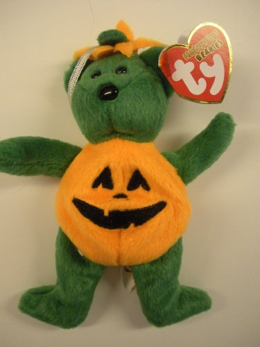 1 X TY Halloweenie Beanie Baby - TRICKY the Bear